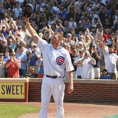 Kerry Wood acknowledges the crowd in the eighth inning. Had to respect him!