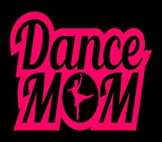 Dance Mom vinyl decal. Great for car or truck windows, laptops, lockers, mirrors, and more! Can be applied on any SMOOTH surface. Vinyl colors come in Pink or White. #dancemom #dance #mom #etsy #decal #cute #sticker