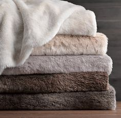 Faux Fur Bed Throw