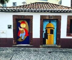 Painted doors in #Funchal #Madeira. #art #culture #Portugal #Igersmadeira #travel #tourism #tourist #leisure #life #fun