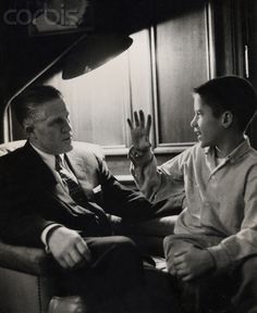 USA - Politics - Mitt and George Romney 1960. Detroit