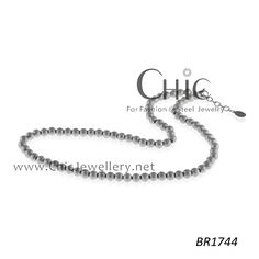 steel bead neckalce sand blasting-BR1744