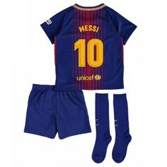 Nike Barcelona Home Mini Kit (Pique Messi 10, Lionel Messi, Barcelona, Soccer Shop, Neymar Jr, Real Madrid, Rompers, Swimwear, Products