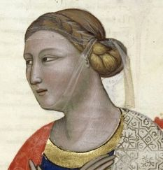 Recreating Veils and Hairstyles of the Middle Ages: 14th Century Italian Hair…