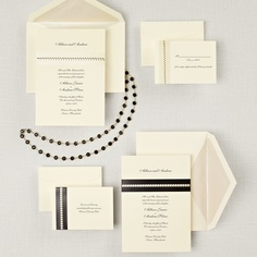 Sophisticated Sparkle Wedding Invitation