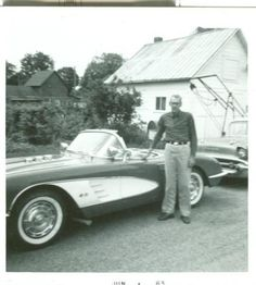 Vintage Corvette and owner picture from1963
