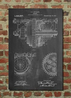 Gearing Poster Gearing Patent Gearing Print by PatentPrints