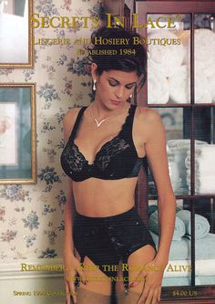 Secrets In Lace Catalog Cover Spring 1999.