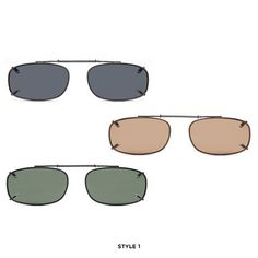 3-Pack: Afonie Clip-On Sunglasses - Assorted Styles at 72% Savings off Retail!
