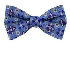 Fashion Mens Tie Classic Silk Heart Beat Print Bow Tie Adjustable Necktie