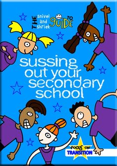 'Sussing Out Your Secondary School'  pupil workbook to support the transition from year 6 to year 7. Simple activities (quizzes, reflecting, drawing, etc.) exploring aspects such as the journey, uniform, rules, timetable, homework, learning skills, friendships and more.  Ideal for teachers and parents!