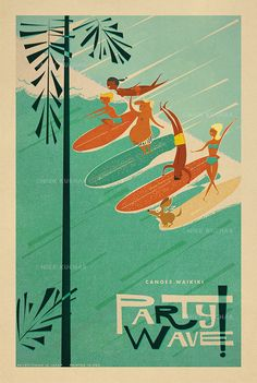 Island Life Print Series – Nick Kuchar | Artist, Illustrator | Oahu, Hawaii