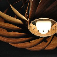 Furnier Lampe Etimoué -geschraubt statt geklebt, sehr edel Laser Cut Lamps, Pendant Lighting, Light Pendant, Lights, Interior Design, Creative, Wings, Image, Night Lamps