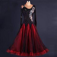 Red-Ballroom-Modern-Standard-Waltz-foxtrot-Competition-Evening-Dance-Dress