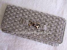 Carteira em Crochetar -  /   Wallet into Crochet Hooks -