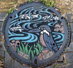 Manhole Cover in Yaizu, Shizuoka, Japan