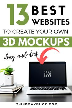 13 Best Free Tools to Create 3D Mockups (without Photoshop). Use this tools to turn your 2D flat design into 3D generated mockups. All templates are sorted into easy-to-browse categories: iPhone iPad, Macbook, Android, Multi-device, Smartwatch, Windows and more. Showcase your work, design, websites, or products (online course, eBooks) etc. #mockups #3d #3dmockups #productmockups #graphicdesign Design Websites, Cool Websites, Free Mockup Generator, Sell Books On Amazon, Create Business Cards, Social Media Trends, Book Tattoo, No Photoshop, Self Publishing