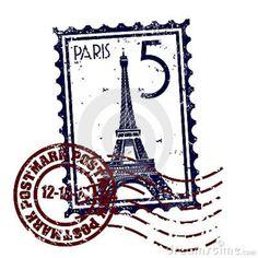Paris stamp or postmark style grunge. Vector illustration of stamp or postmark s , Vintage Stamps, Vintage Labels, Vintage Postcards, Vintage Images, Vintage Prints, Paris Tattoo, Tour Eiffel, Deco France, Books Art