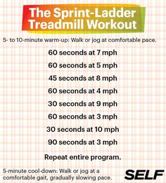 Get a runner's high all day with this hiit treadmill workout.