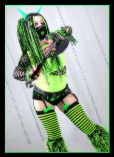 #Cybergoth girl Violetta Oscura