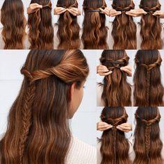 45+ Schöne, Schnelle und Einfache Frisuren in 2 Minuten für die Arbeit oder die Schule   #EinfacheundSchnelleFrisuren #Frisuren #FrisurenTrends2019 #Haar #Hairstyles