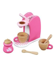 Look at this #zulilyfind! Wooden Coffee Maker Set #zulilyfinds