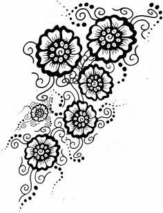 florale motive tattoo vorlagen ideen frauen karten pinterest tattoo vorlagen vorlagen und. Black Bedroom Furniture Sets. Home Design Ideas