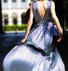 that dress. Candela in Milan. #CandelaNovembre