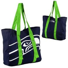 New England Patriots Ladies Big Logo Tote - Navy Blue/Silver Seattle Seahawks, Seahawks Gear, Seahawks Fans, Seahawks Football, Nfl Seattle, Seahawks Apparel, New England Patriots Football, Patriots Fans, College Tote