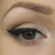 Ever since I saw Christina wear this look in Burlesque, I have done it every day! Step by step classic natural eye tutorial