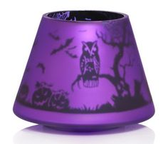Purple Halloween Owl Candle Holder,  Yankee Candle,