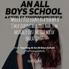 """""""Would I still count as a teacher if I'm a student here too? Nah, I'm basically just the side hoe of education."""" - from Teaching At An All Boys School  (on Wattpad) https://www.wattpad.com/305797221?utm_source=ios&utm_medium=pinterest&utm_content=share_quote&wp_page=quote&wp_uname=MartaVBM&wp_originator=VGqgzgB%2F8vSZrx8Tm1kffDm04wK6KjO3ZrEPxiR4smb7s6rjNwEs0ICIrnlq9pegms1Y2SAXjZ5yWG1Z9%2FJnoJnX0oh5fOGdleYfNy46twy%2BYtv6Zt0bFwQriP0vswqj #quote #wattpad"""