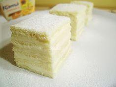 Dulciuri fel de fel: Prajitura Alba ca Zapada (2) Sweets Cake, Vanilla Cake, Feta, Great Recipes, Cake Decorating, Recipies, Cheesecake, Deserts, Good Food