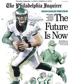 Carson Wentz graces the front cover of the Philadelphia Inquirer