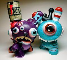 TOY ART http://www.pinterest.com/jsgore/art-art-toys/ SDCC Dunnys | Artist: Betso