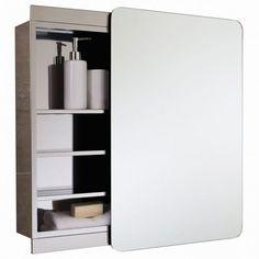 Bathroom Mirror Cabinet, Mirror Cabinets, Bathroom Cabinets, Bathroom Storage, Small Bathroom, Bathrooms, Bathroom Ideas, Diy Storage, Storage Spaces