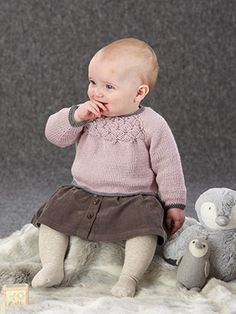 Design from The Seventeenth Little Sublime Handknit Book (688) 15 designs for baby girls and boys from 0 to 3 years knitted in Sublime Baby Cashmere Merino Silk DK. This season, we've added a little bit of fun with the most adorable picture knits in miniature. They're scaled down versions of some of our favourite animals, the bunny, the bushy-tailed squirrel and the little rooster and we've added them to sweaters and cardies, a cushion cover and a gorgeous baby blanket | English Yarns