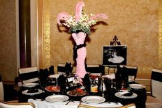 centerpiece Chanel sweet 16 party