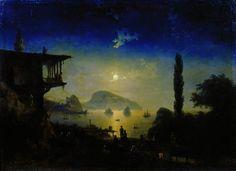 Moonlit Night in the Crimea. Gurzuf 1839 101h136, 5. Ivan Konstantinovich Aivazovsky