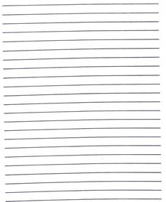 Subject Level: Elementary Lined Paper