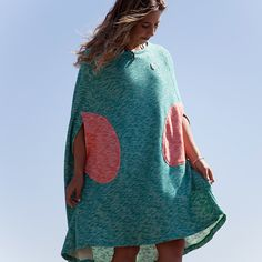 Seea Changing Cape - Aqua | Seea