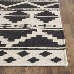 Burbank Dhurrie Area Rug - Navy / Ivory X - Safavieh, Blue, Durable Southwest Rugs, Diy Carpet, Wall Carpet, Carpet Ideas, Modern Carpet, Navy Rug, Rug Material, Carpet Runner, Rug Making