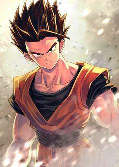 Manga Anime, Fanarts Anime, Manga Girl, Anime Girls, All Anime, Dragon Ball Gt, Manga Illustration, Illustrations, Dbs Gohan