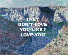 "brattycrush: ""Rocks at Belle-Ile, 1886 - Claude Monet // Maps - Yeah Yeah…"