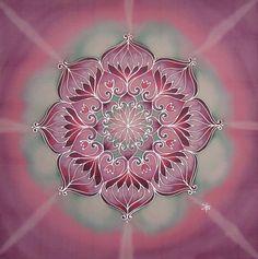 Consciousness mandala, 40x40 cm - silkmandala.com - silk painting - videos on website