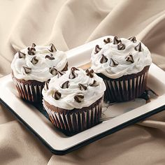 Triple Treat Chocolate Cupcakes - These are my all time favorite cupcakes.  I'm so sad they discounted the morsels, that's really what made them so delicious. (LC)