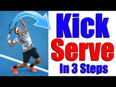 How to hit a perfect Kick serve in 3 steps Real Tennis, Pro Tennis, Tennis Tips, Tennis Clubs, Tennis Techniques, Tennis Serve, Tennis Lessons, Workout Routine For Men, Tennis Workout