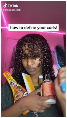 Curly Hair Routine, Curly Hair Tips, Black Curly Hair, Curly Hair Care, Curly Hair Styles, Natural Hair Care Tips, Natural Hair Styles, Cute Natural Hairstyles, Hair Growing Tips