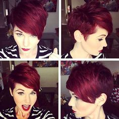 Looking for a new look for your hair? You can go with a red brief hairstyles! In information, you will discover best images of Red Pixie Hair and you may get motivated by these looks!