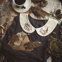 My Owl Barn: Gorgeous Hand Embroidered Collars, Berets and Brooches
